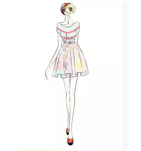 条纹设计最近有次服装设计手绘直播分享,参与添加扣扣 :749959884