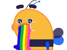 AE学习之吐彩虹的bee