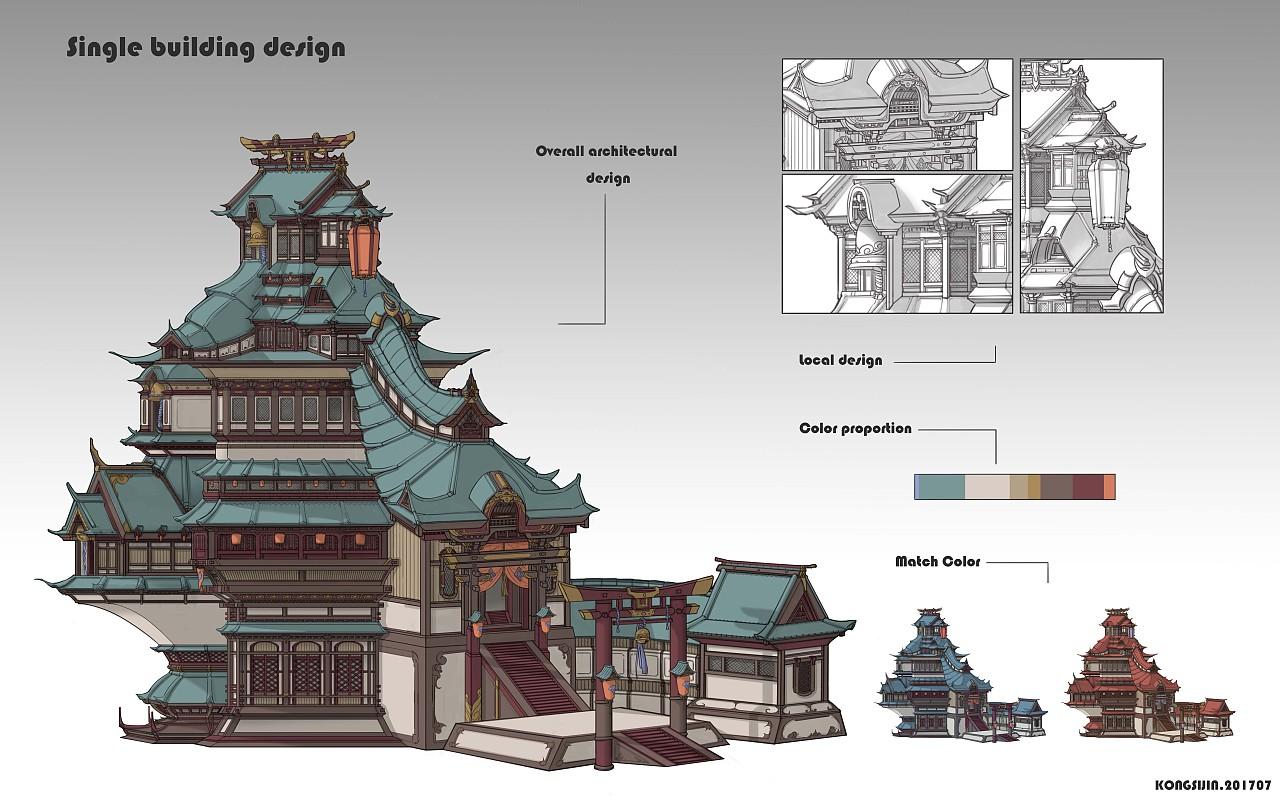 神社单体建筑设计