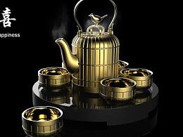 中式陶瓷茶具