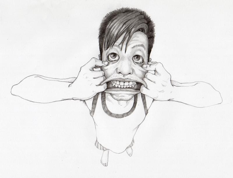 手绘鬼脸图片可爱