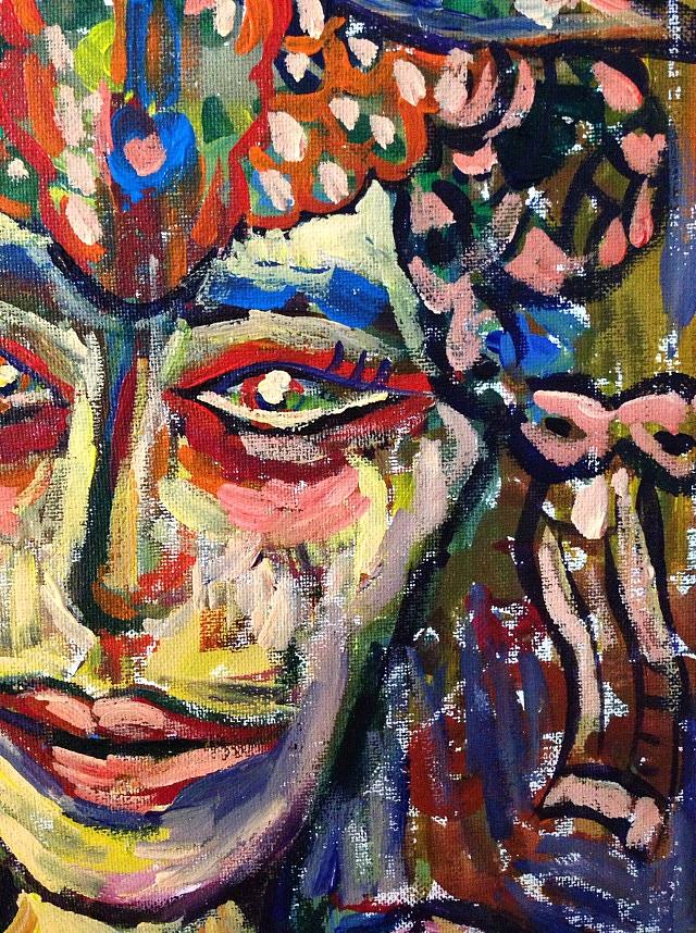 丙烯手绘《希望与失望》