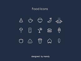 一套扁平类食物图标(练习)