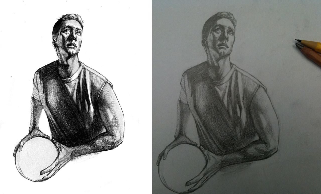 篮球手绘图片素描