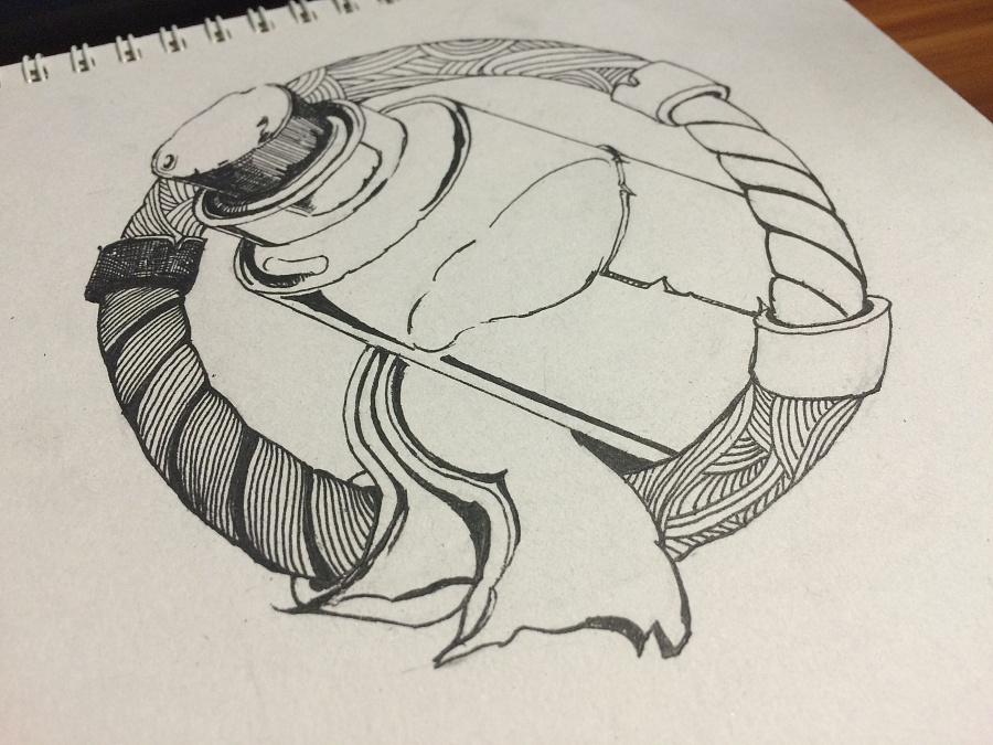 手绘黑白线描游戏图标(药水)|其他插画|插画|鱼哥哥
