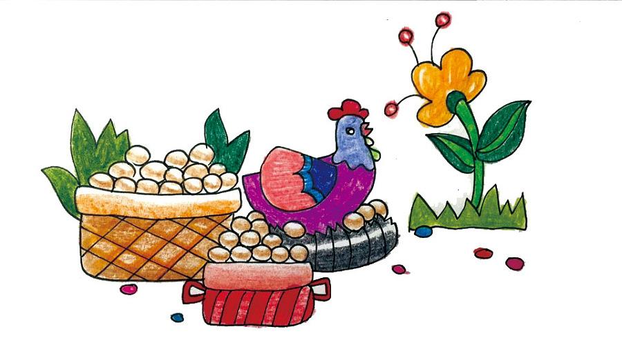 儿童诗歌 歌儿满山坡 封面及内页手绘插画