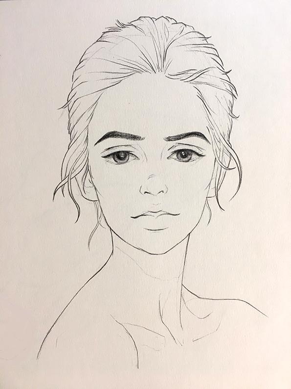 手绘+电脑|绘画习作|插画|雯小