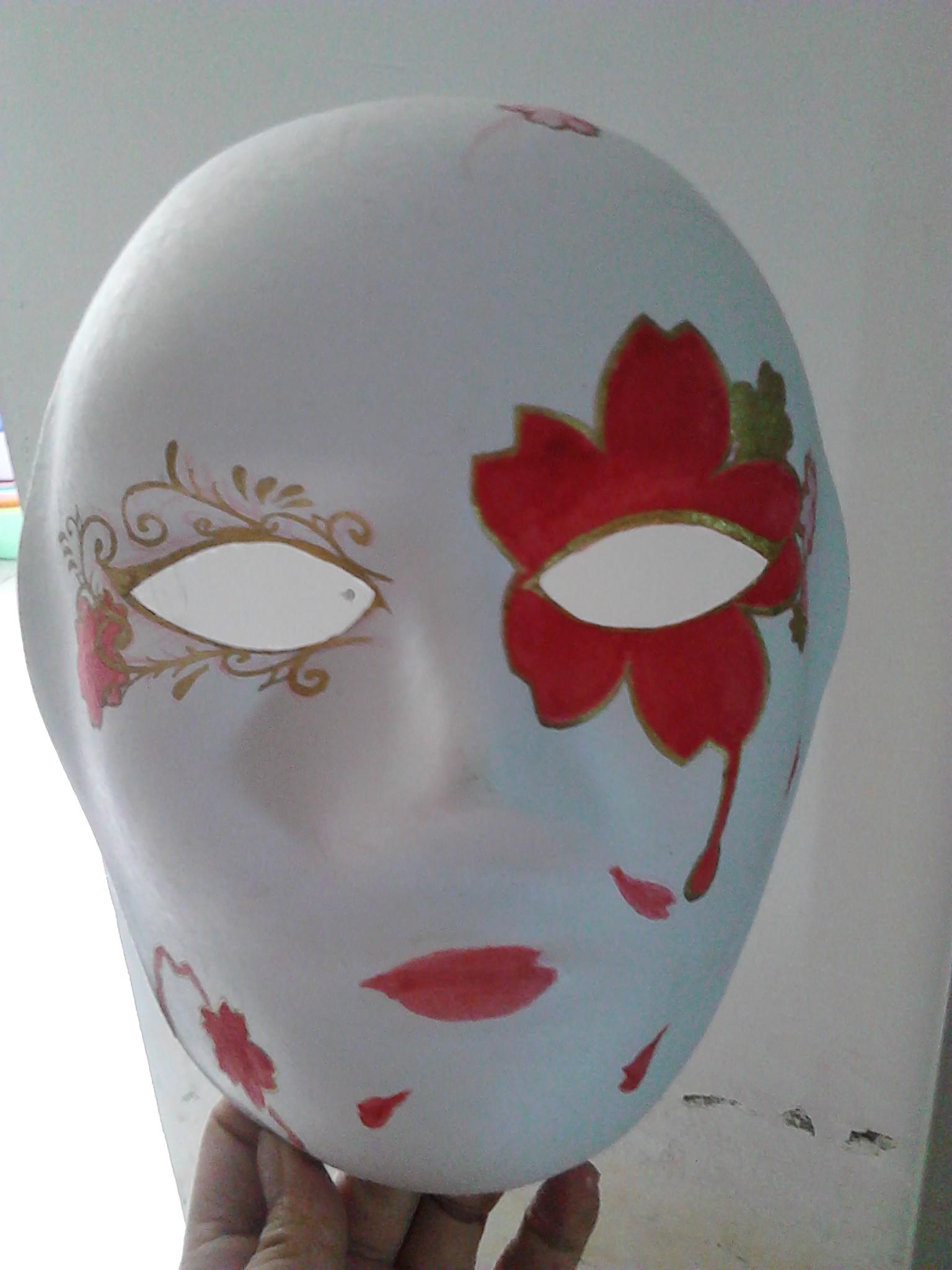 樱花乱 面具手绘