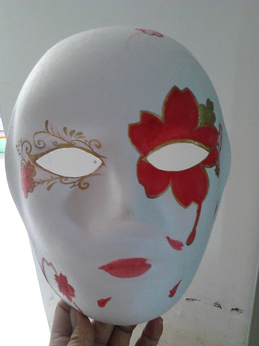 樱花乱 面具手绘|涂鸦/潮流|插画|鱼片片儿 - 原创