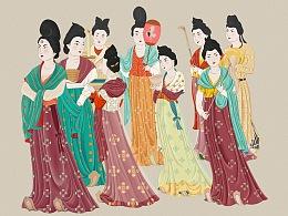 《永泰公主墓宫女图》复原图绘制