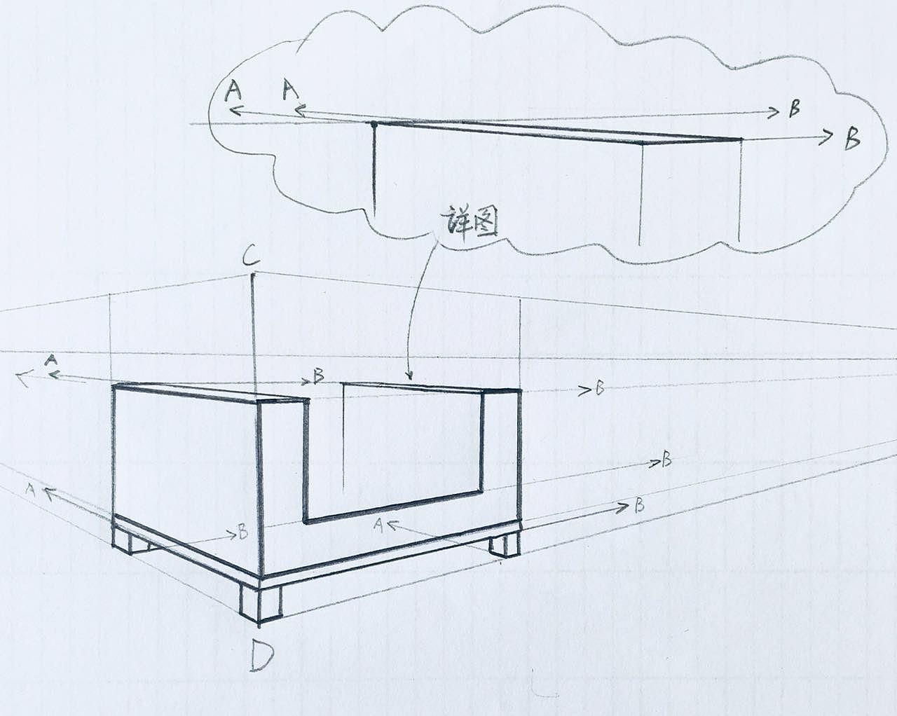 透视图教学|空间|室内设计|卓玥 - 原创作品 - 站酷