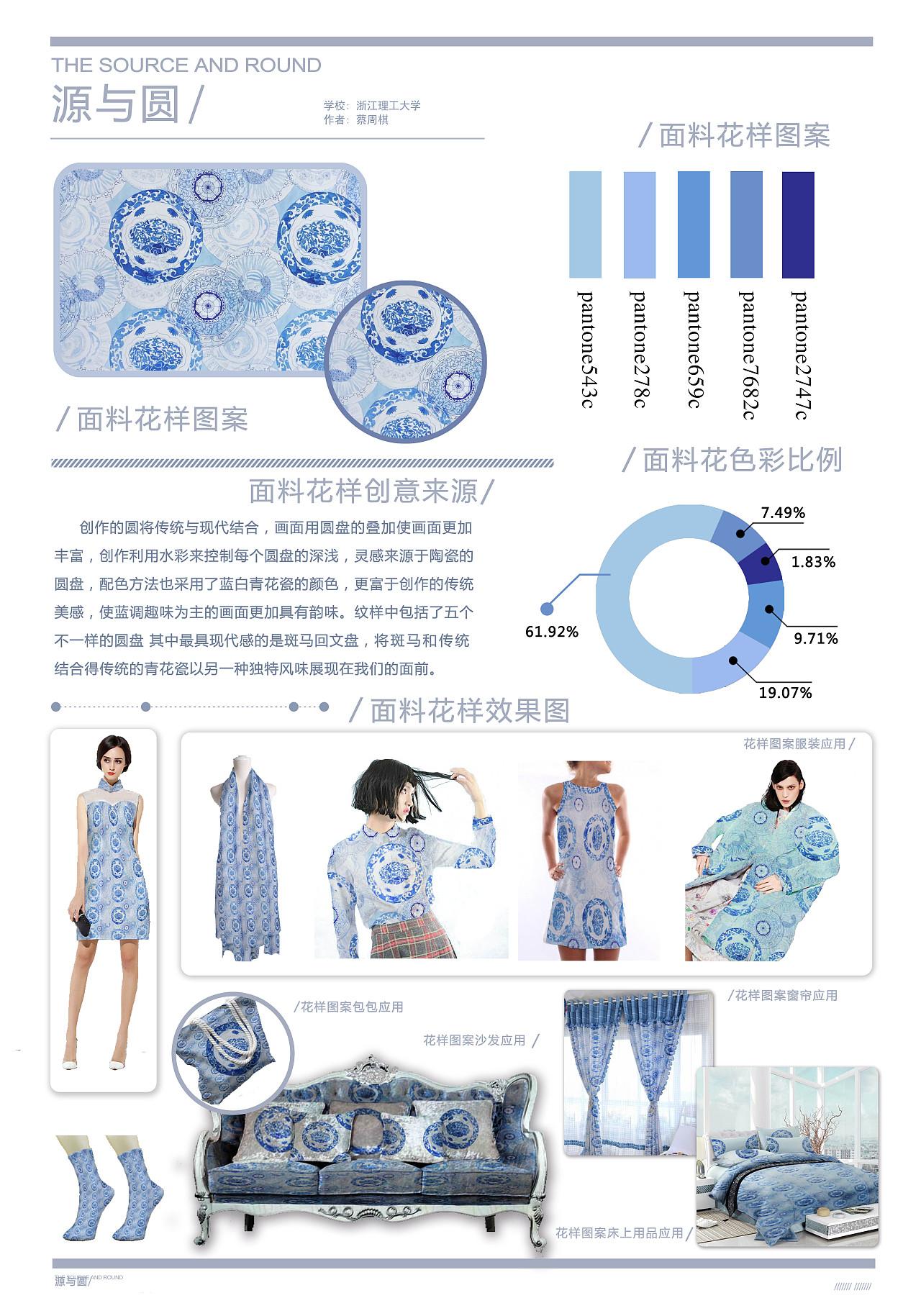 源与圆 2015中国国际面料创意设计大赛文化传承奖图片