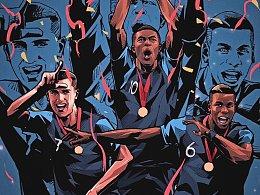 关于俄罗斯世界杯的一切,2018俄罗斯世界杯插画超长图