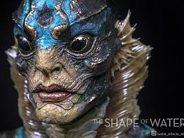 电影《水形物语》The Shape of Water 人鱼角色1:1雕像