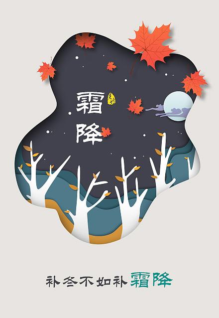寒露 重阳节 霜降图片
