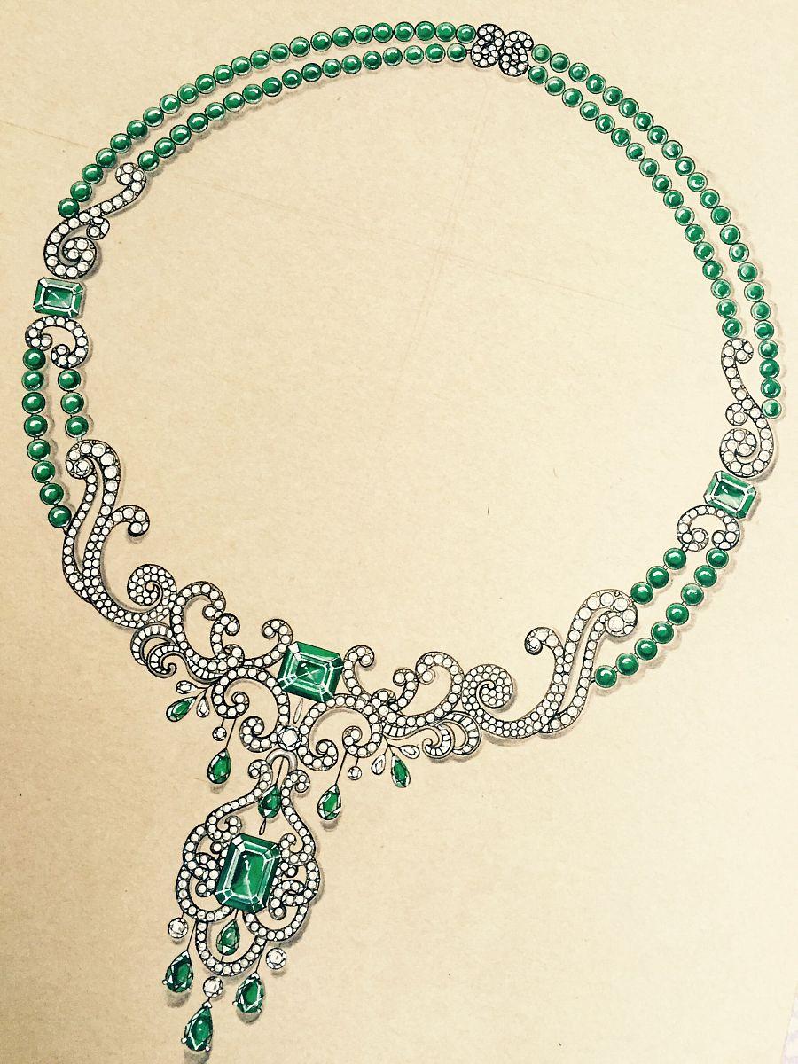 珠宝手绘|首饰|手工艺|小跑鱼
