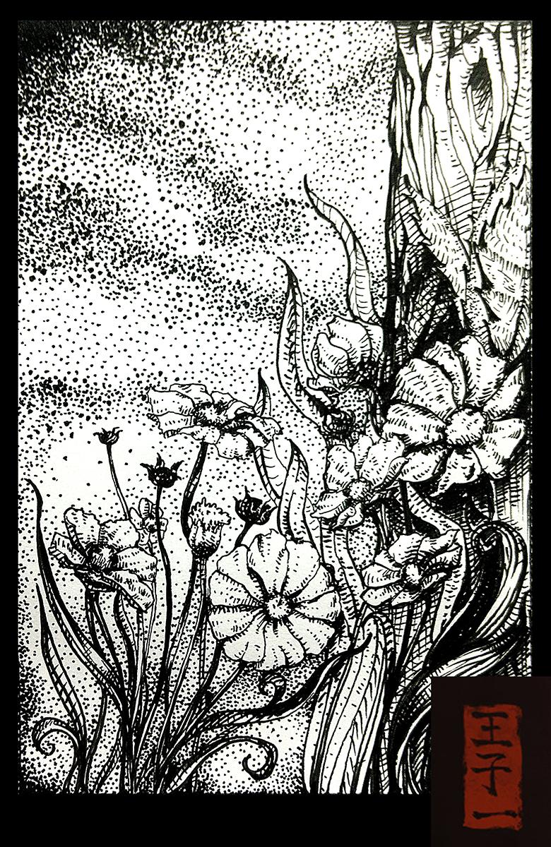 一些小针管笔手绘