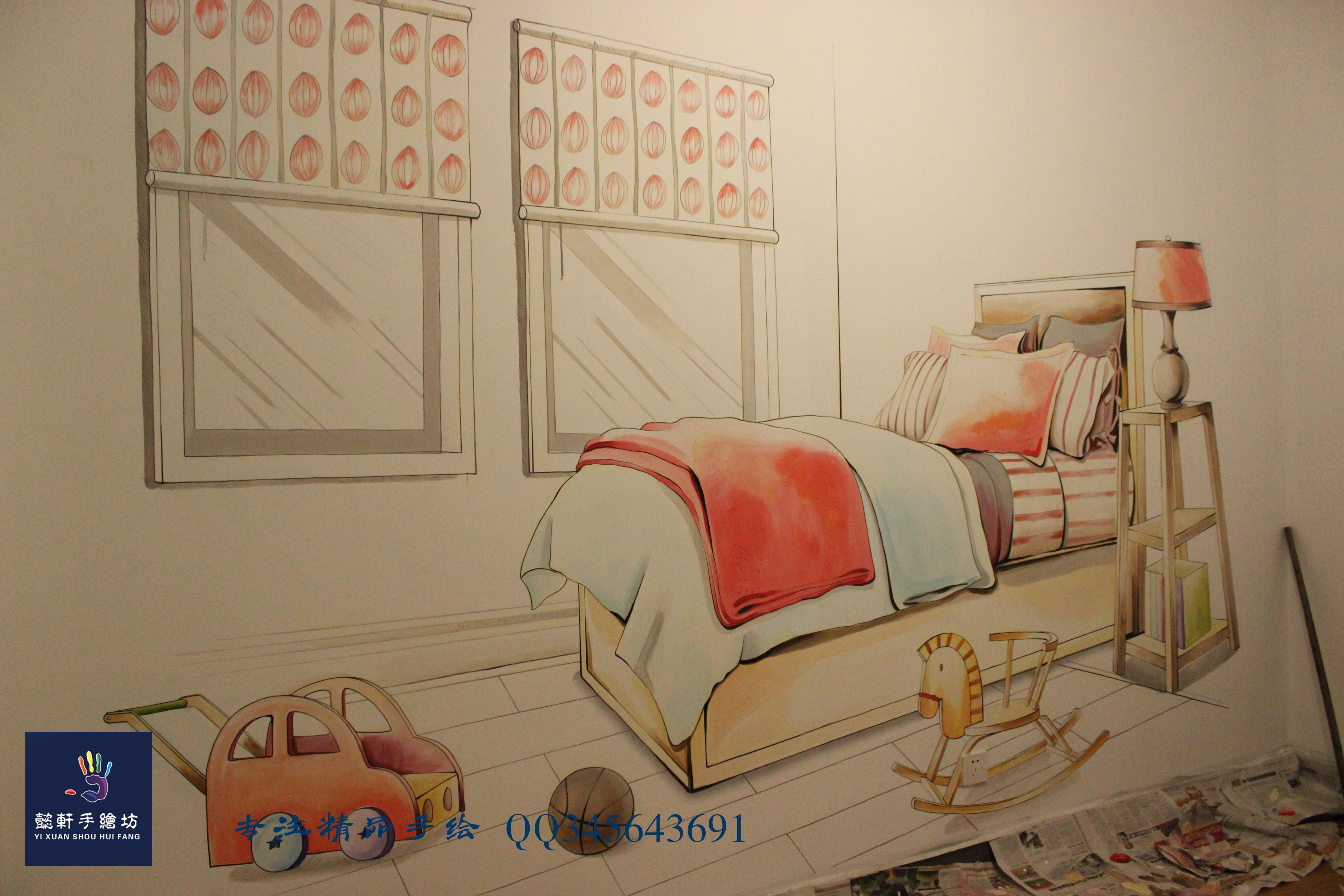 手绘墙|其他|墙绘/立体画|懿轩手绘墙 - 原创作品