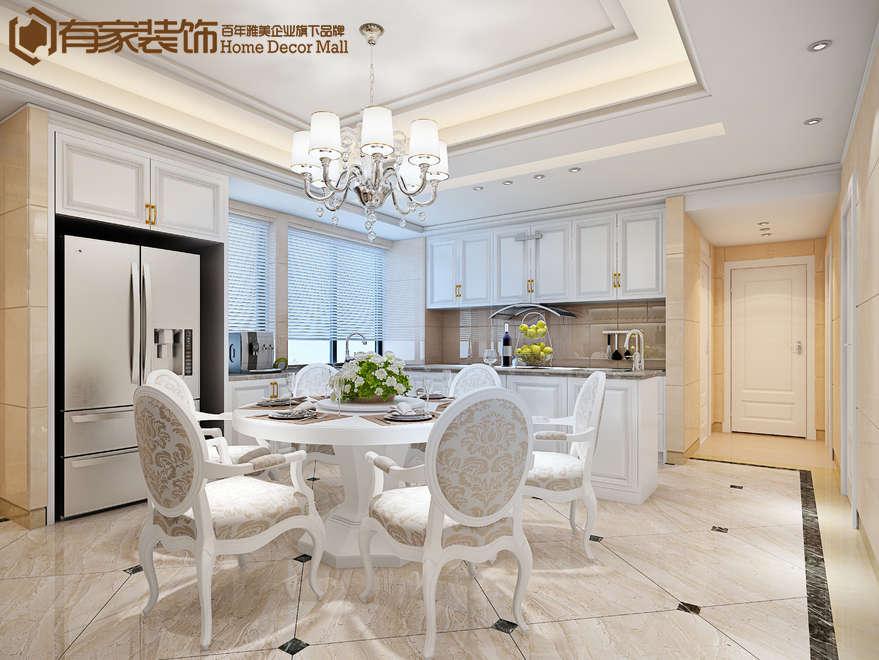 湖里融景湾186平欧式风格装修效果图|室内设计|空间