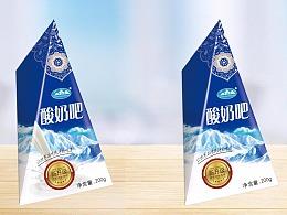 雪峰牦牛乳业酸奶包装设计