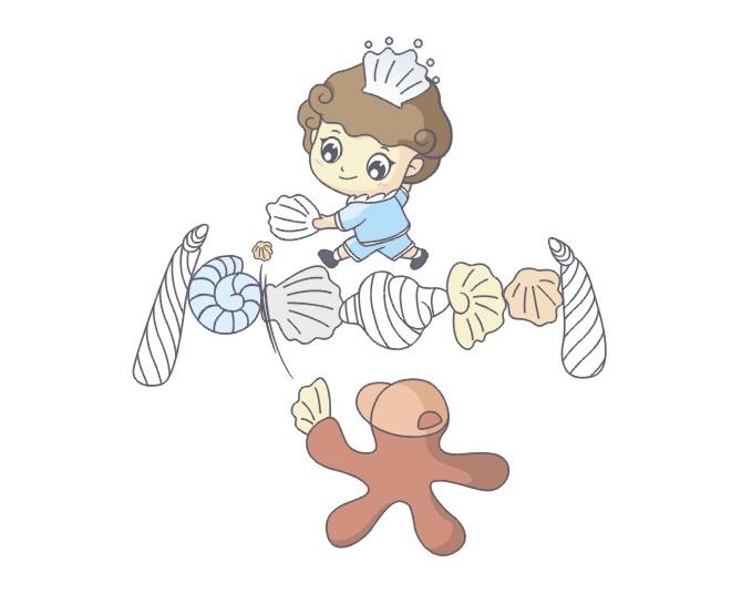 小贝壳童装品牌卡通形象图片