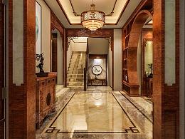 中式设计门厅