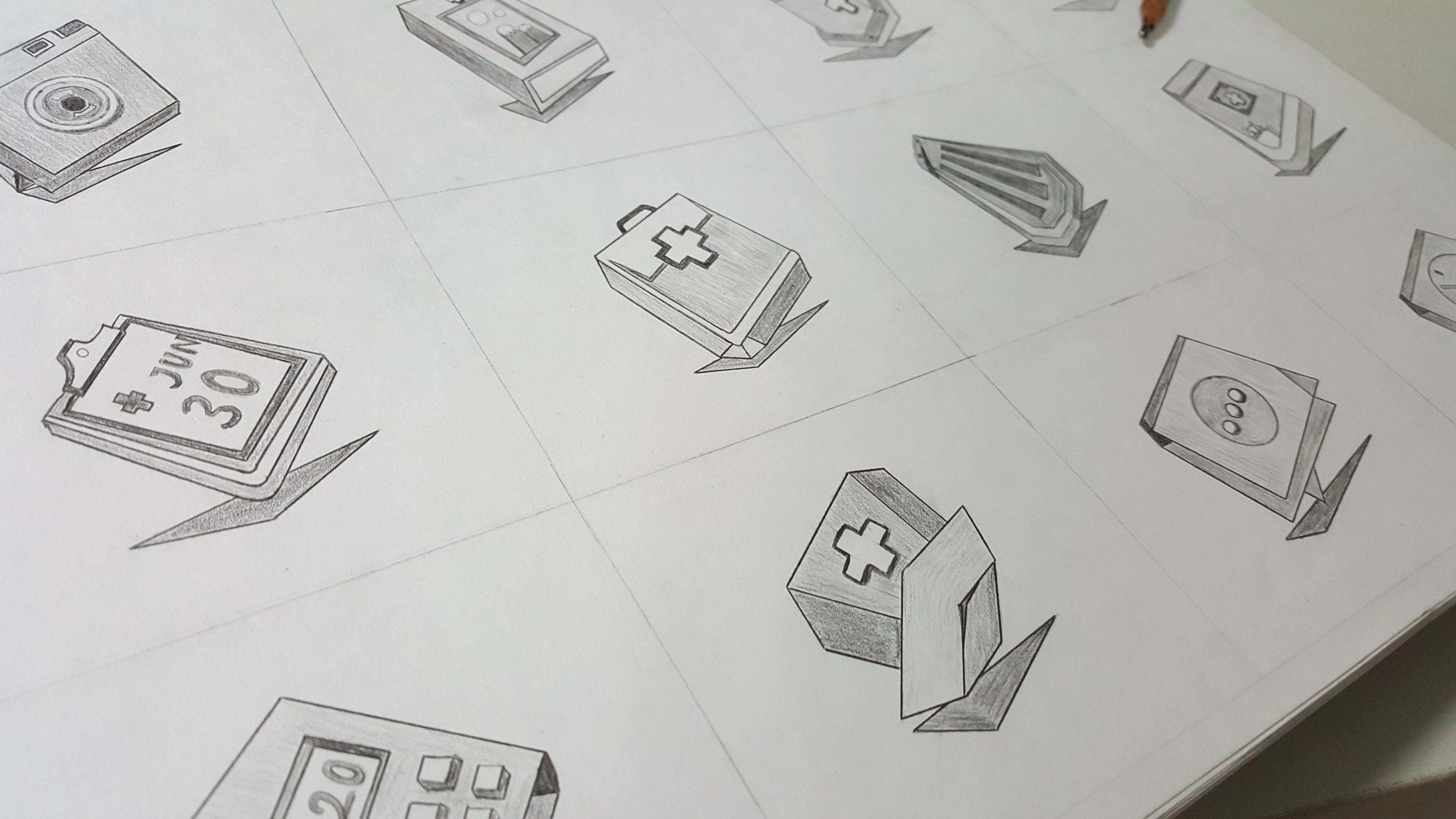 小米主题大赛创意奖hospital主题图标手绘