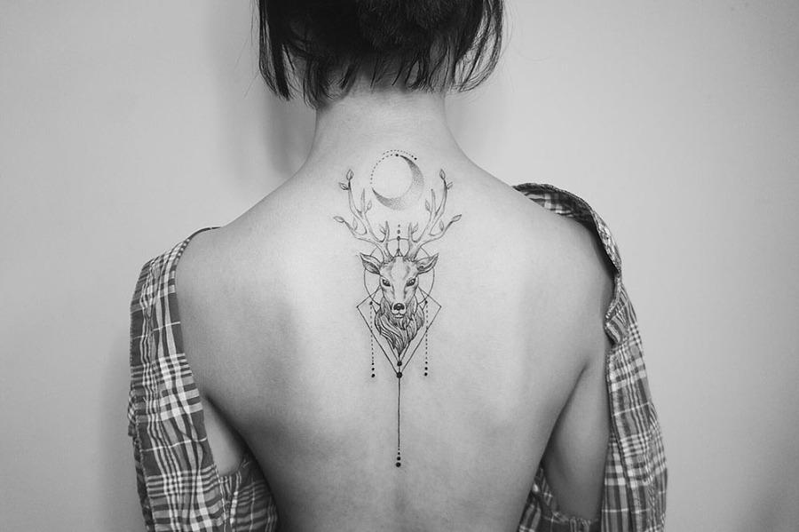 纹身作品-鹿