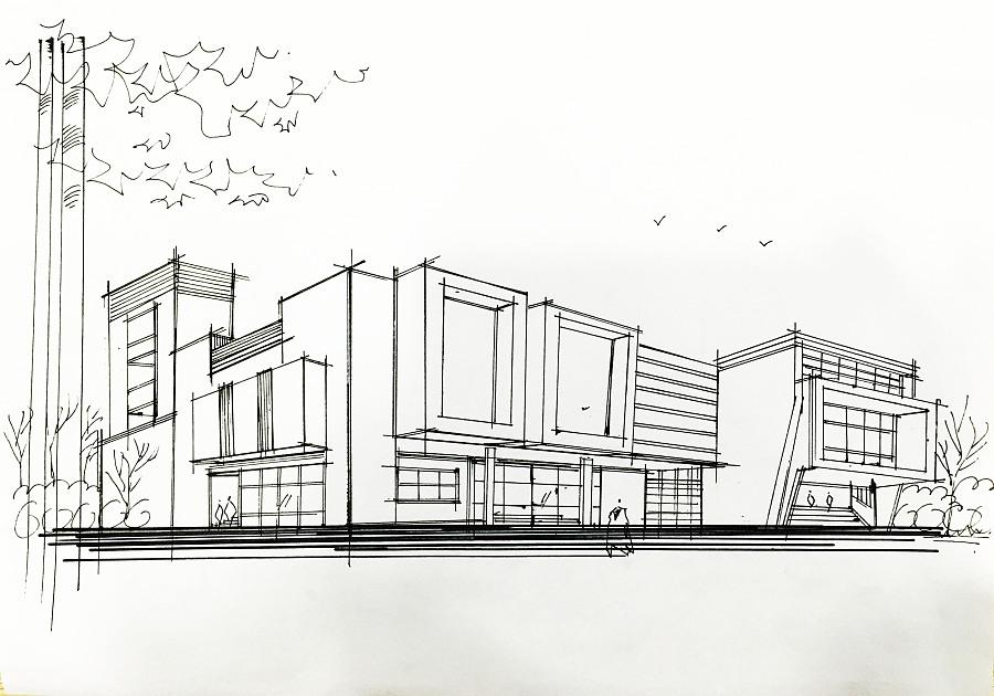 建筑快题和产品手绘|建筑设计|空间/建筑|adore0723