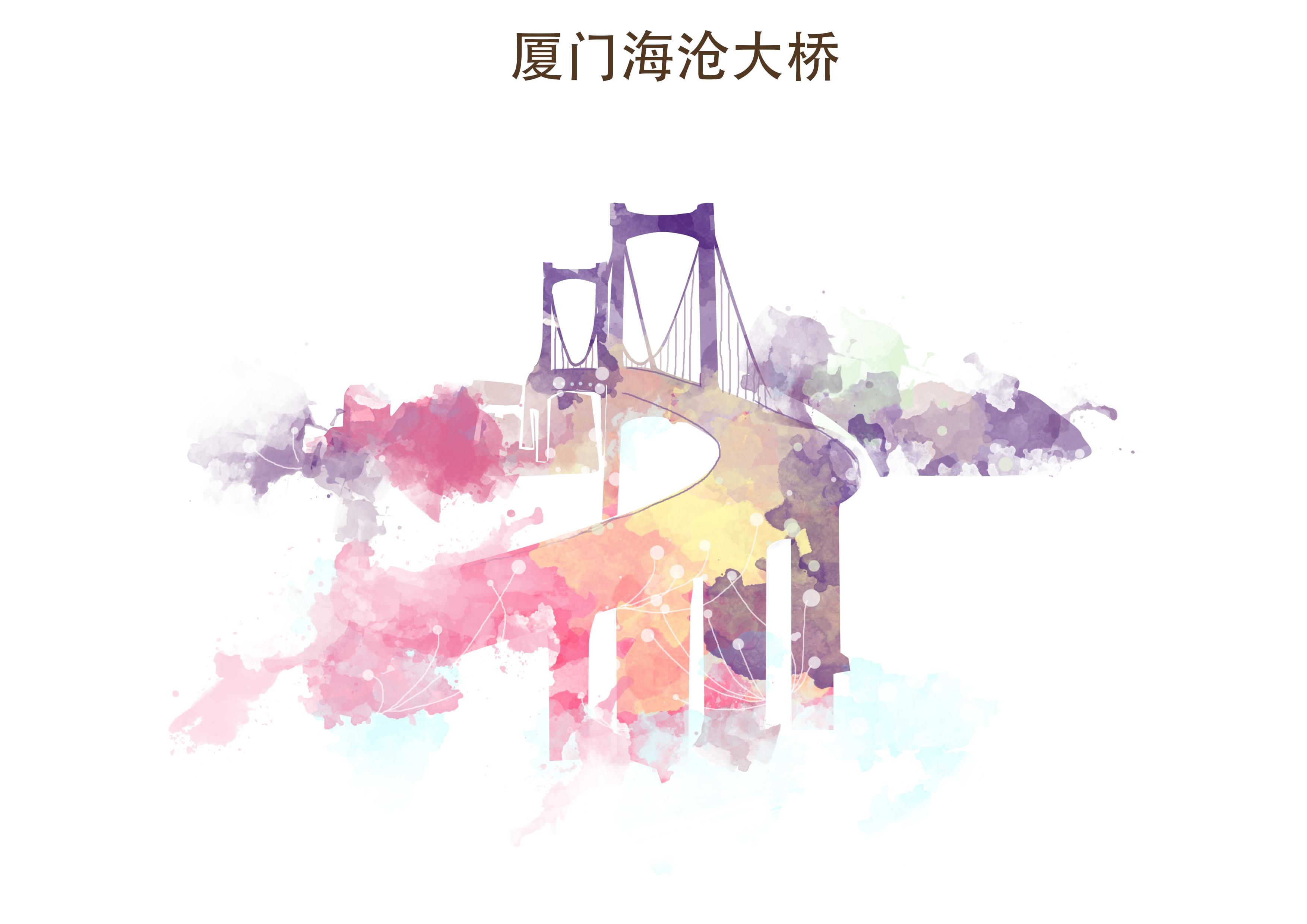 厦门风景插画