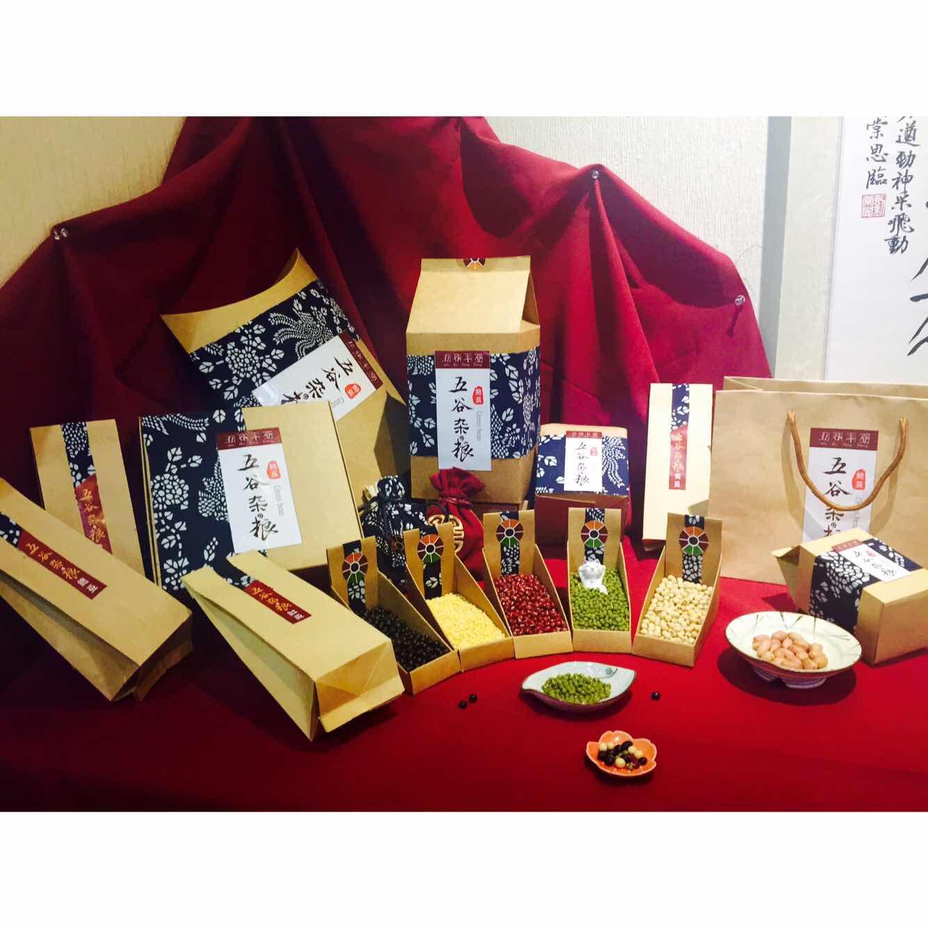 五谷杂粮包装及谷物logo设计图片