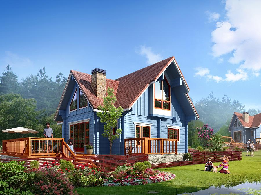 无锡木别墅方案设计世界别墅排图片