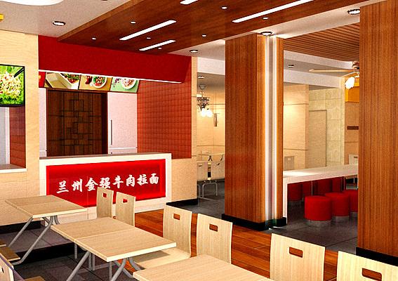 餐饮加盟店设计 拉面馆装修效果图设计 上海烧烤店室内设计 烧烤连