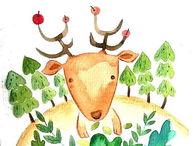 萌萌森林里的小动物|插画|儿童插画|马小鳗 - 原创