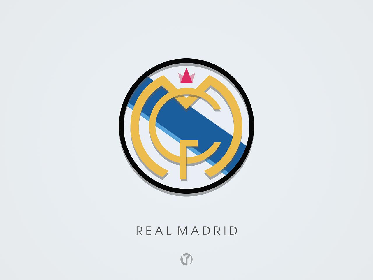 皇马球队标志_#个人作品#重新设计#俱乐部足球队队徽logo/阿森纳/皇马 ...