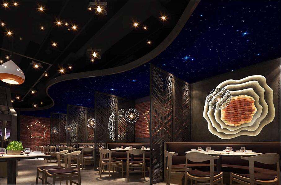 主题语-星星菜餐厅主题v主题--贵阳餐厅客家古代绘制毛管图片