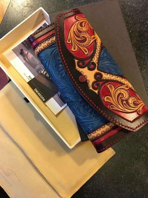 纯手工制作教堂皮雕钱包