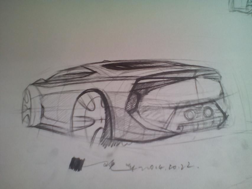 汽车手绘 工业/产品 交通工具 为未来而设计 - 原创