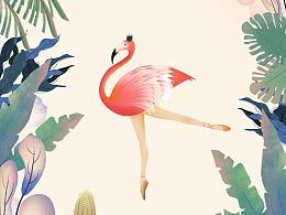 Dancing Flamingo &  Invisible Hand