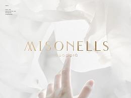 Misonells米契尔护肤品牌logo设计 | 你与光的相遇