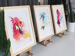 [ 永生花装饰水彩画]鸟语and花香