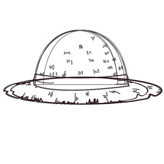 草帽手绘设计图