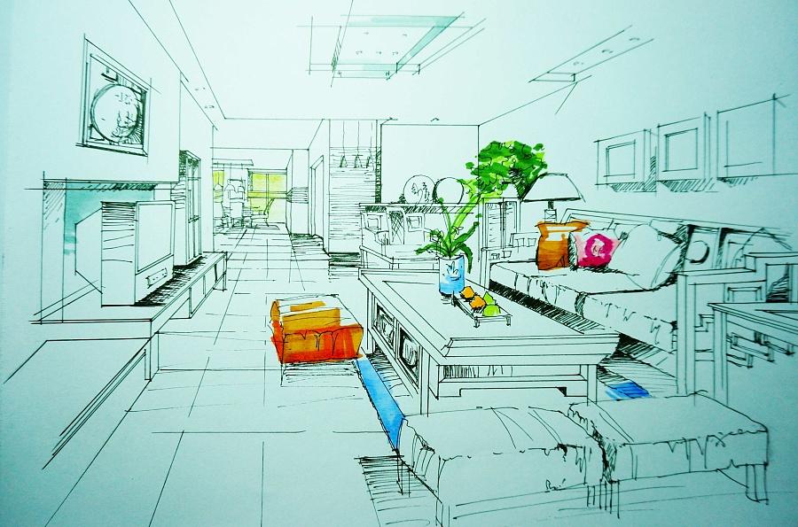 室内马克笔表现技法|室内设计|空间/建筑|silvermoon
