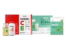 养生堂 | 蛋白质粉&EC礼盒包装设计
