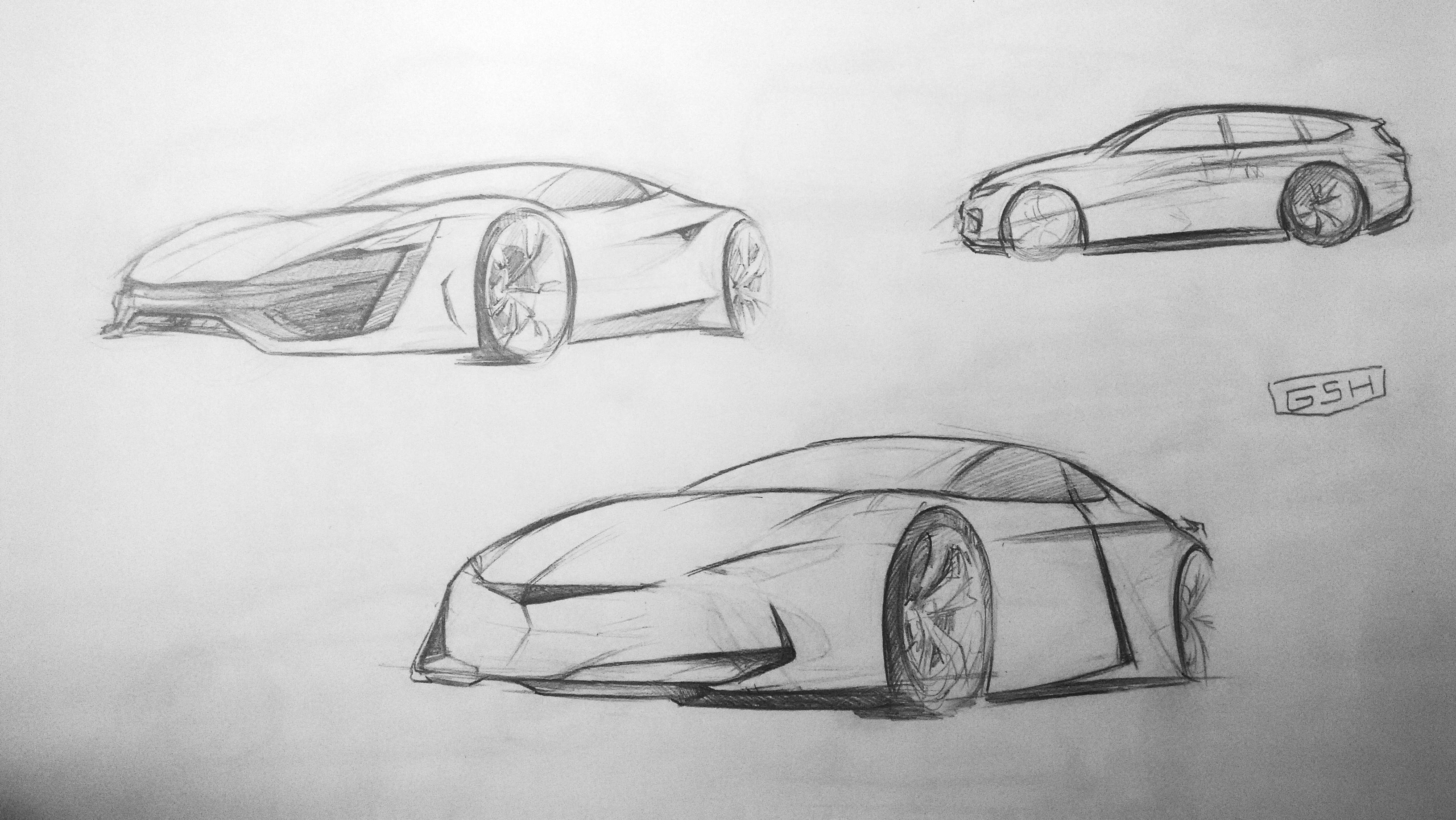 概念汽车手绘设计图展示