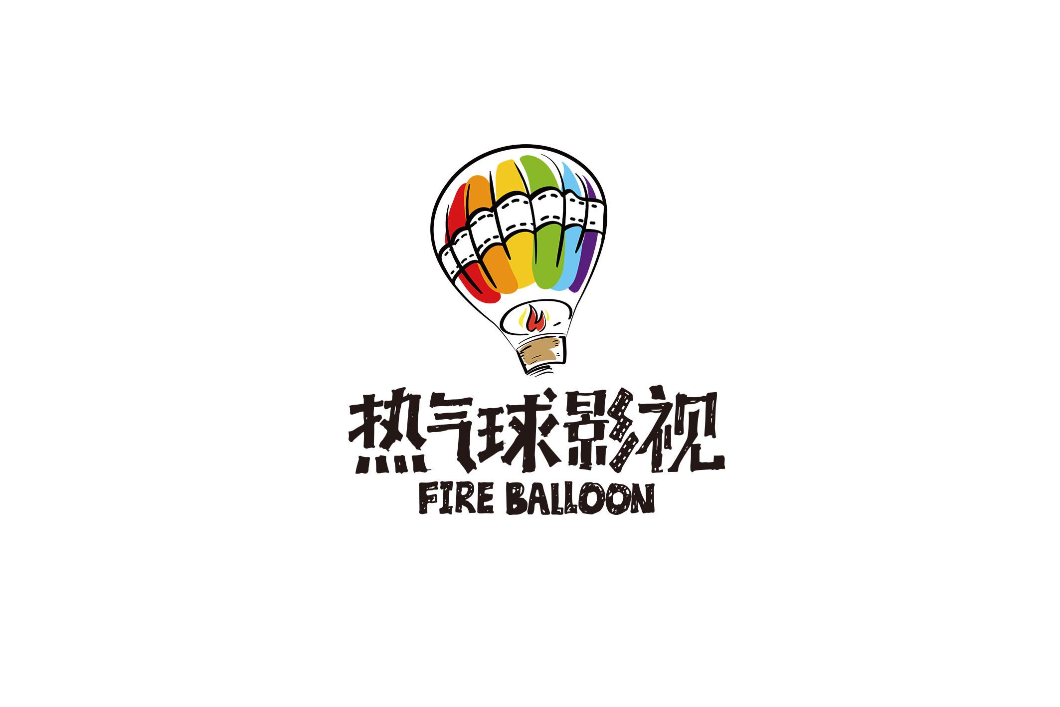 热气球影视logo图片