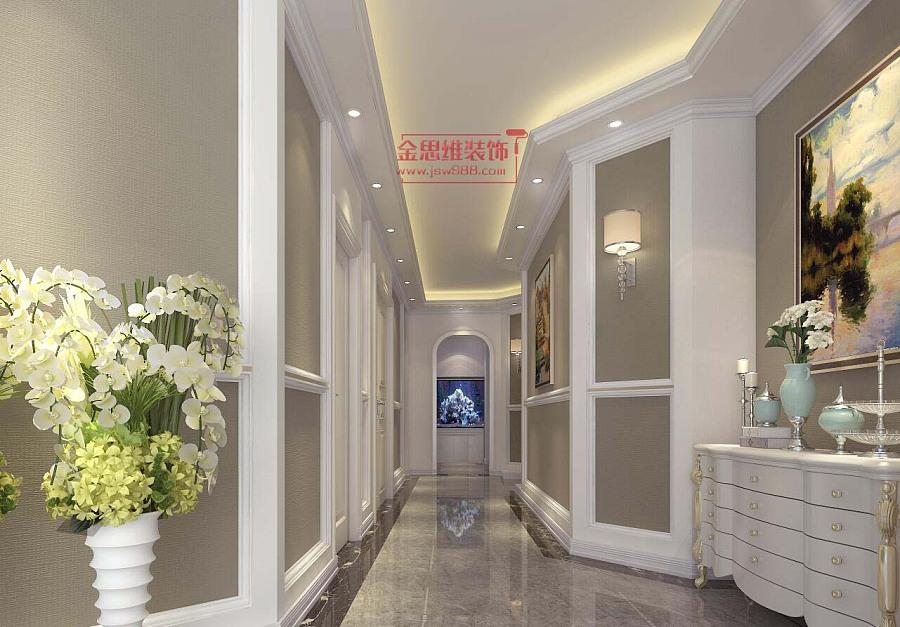 湖北襄陽spa美容會所裝修設計大廳走廊裝修設計效果圖圖片