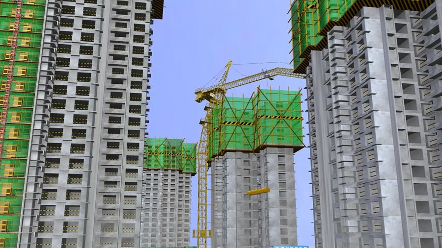 工地,塔吊|机械/交通|三维|sxh921101 - 原创设计作品