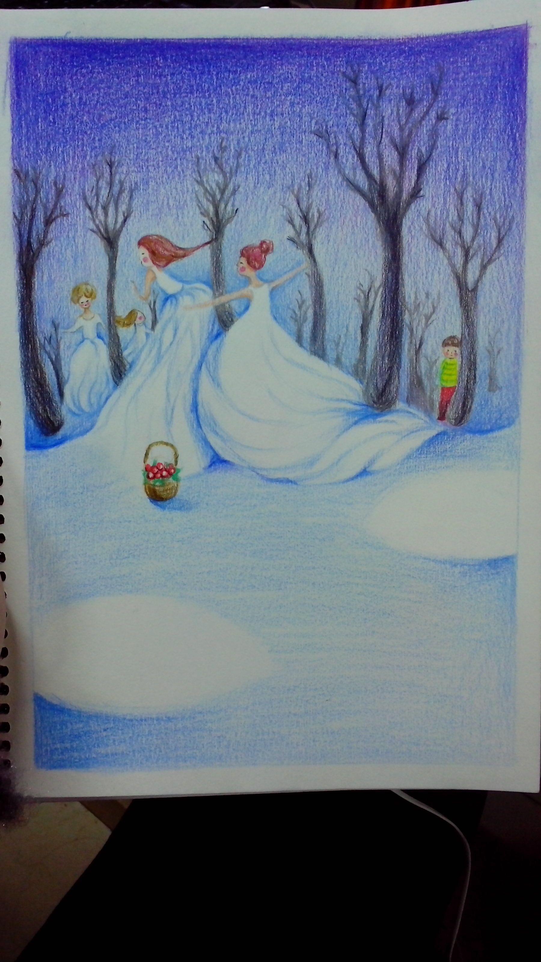 手绘彩铅插画|插画|儿童插画|小呆呆0514 - 原创作品