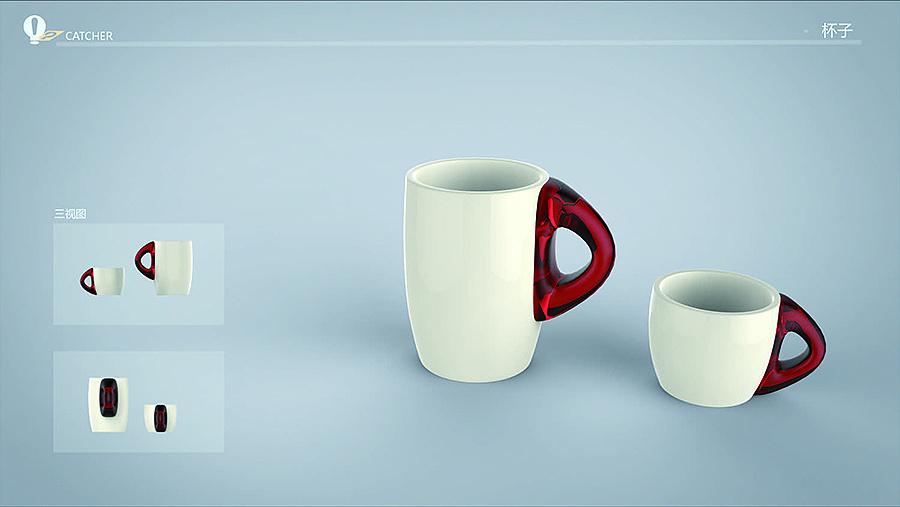 创意茶具和杯子图片